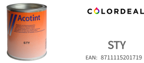 1 ltr Acotint colorant STY - Transparent Yellow